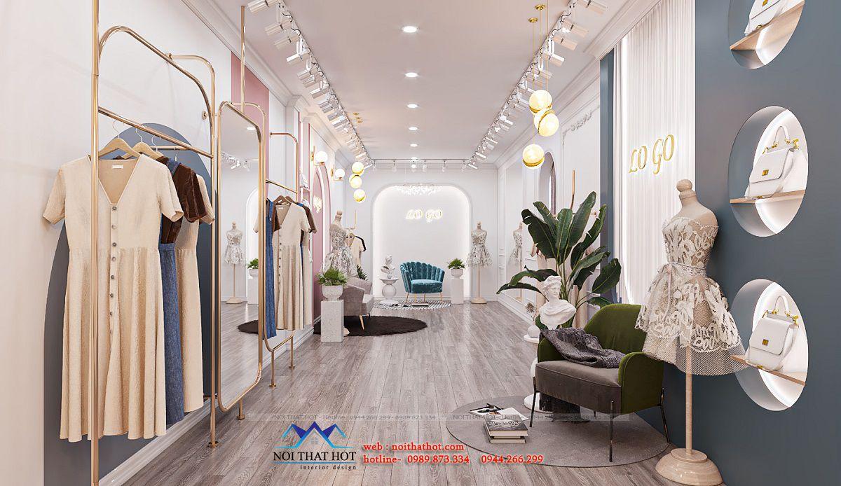 thiết kế shop livestream bán quần áo