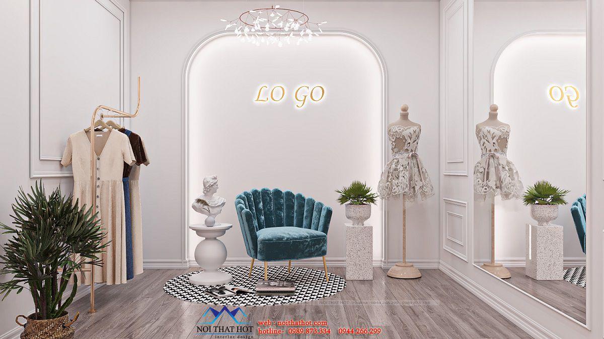 trang trí shop thời trang online