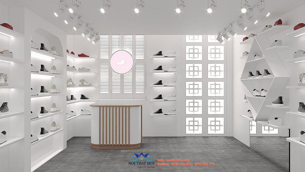 thiết kế shop giày sneaker