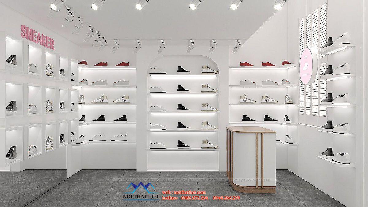 thiết kế cửa hàng giày