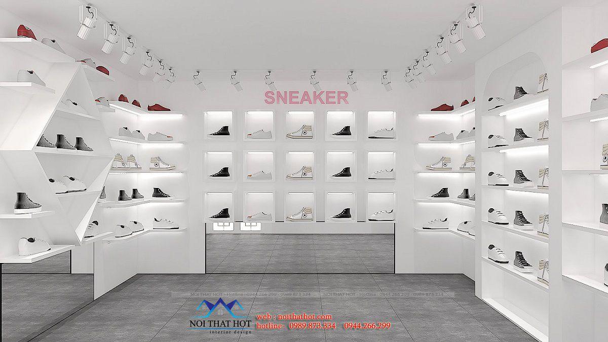 thiết kế nội thất shop giày sneaker