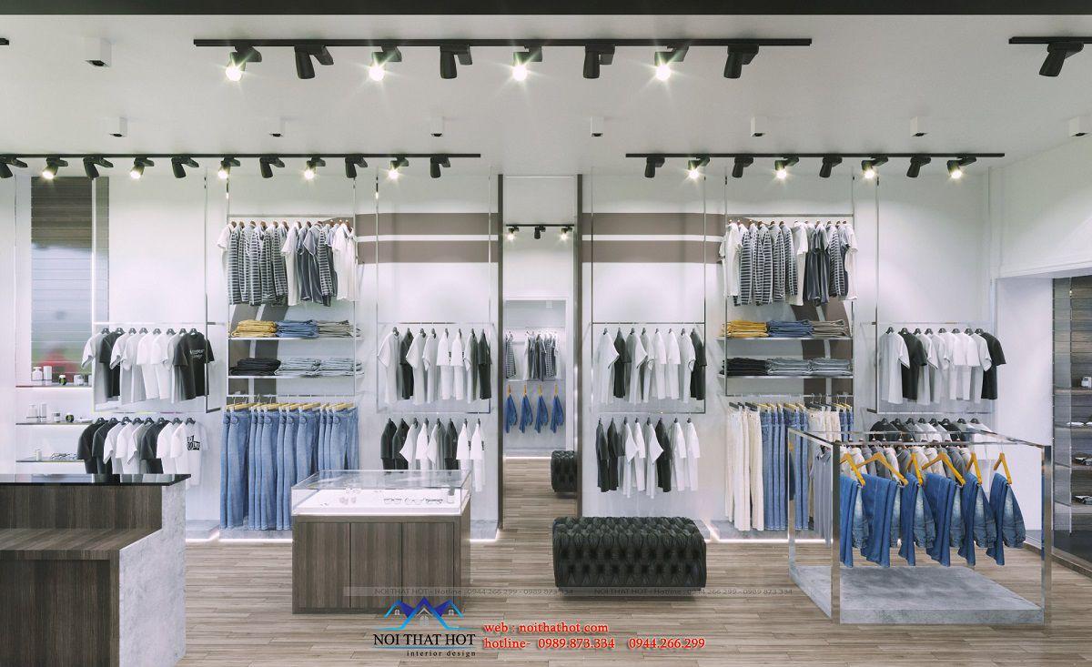 thiết kế shop thời trang nam 60m2
