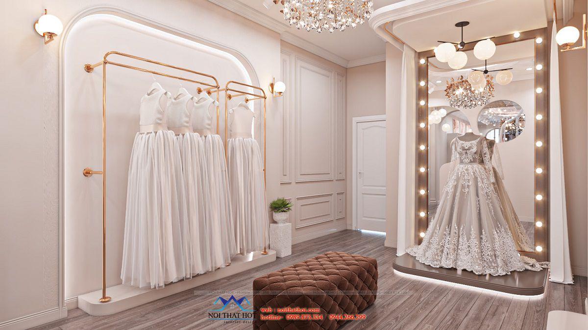 thiết kế studio áo cưới sang trọng