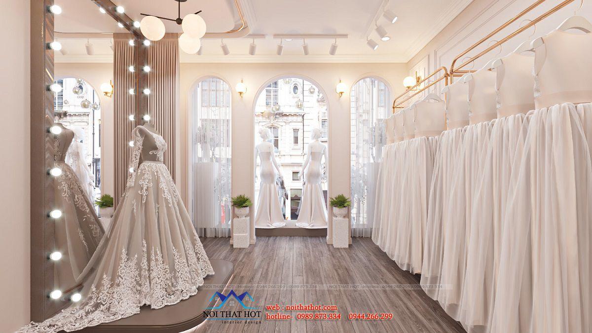 thiết kế nội thất studio áo cưới