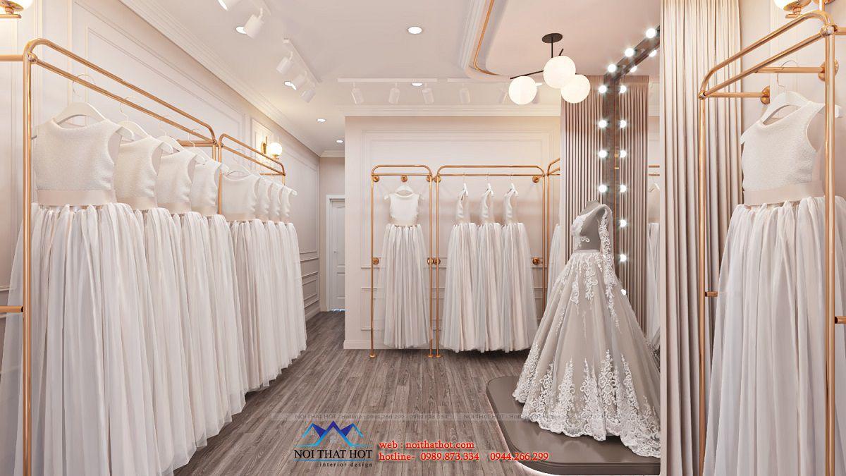 thiết kế studio áo cưới hiện đại