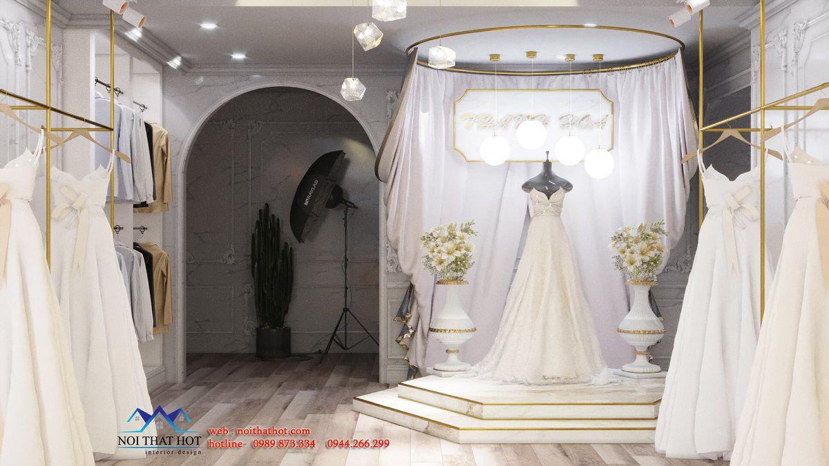 thiết kế studio áo cưới 50m2