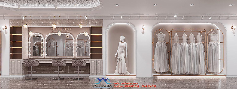thiết kế cửa hàng áo cưới