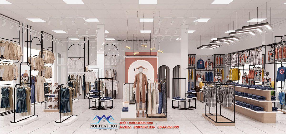 thiết kế shop thời trang 120m2