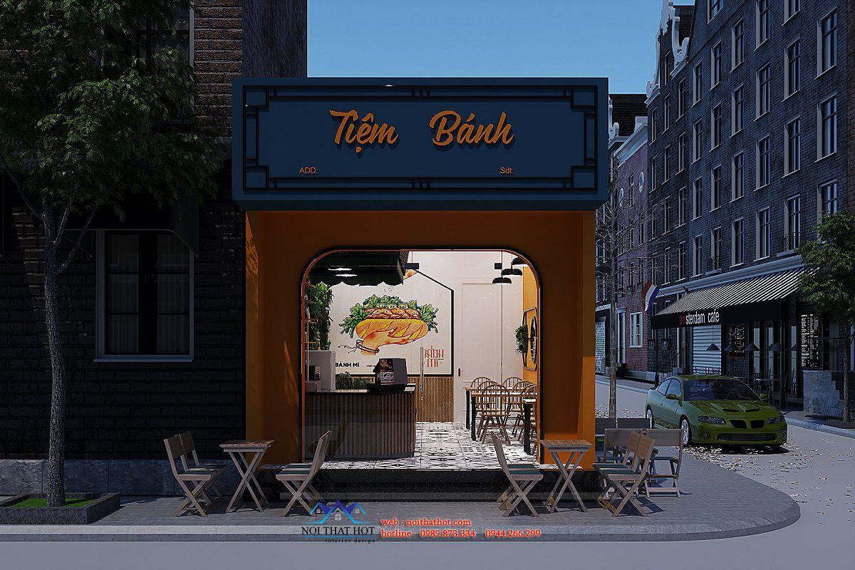 thiết kế tiệm bánh mì