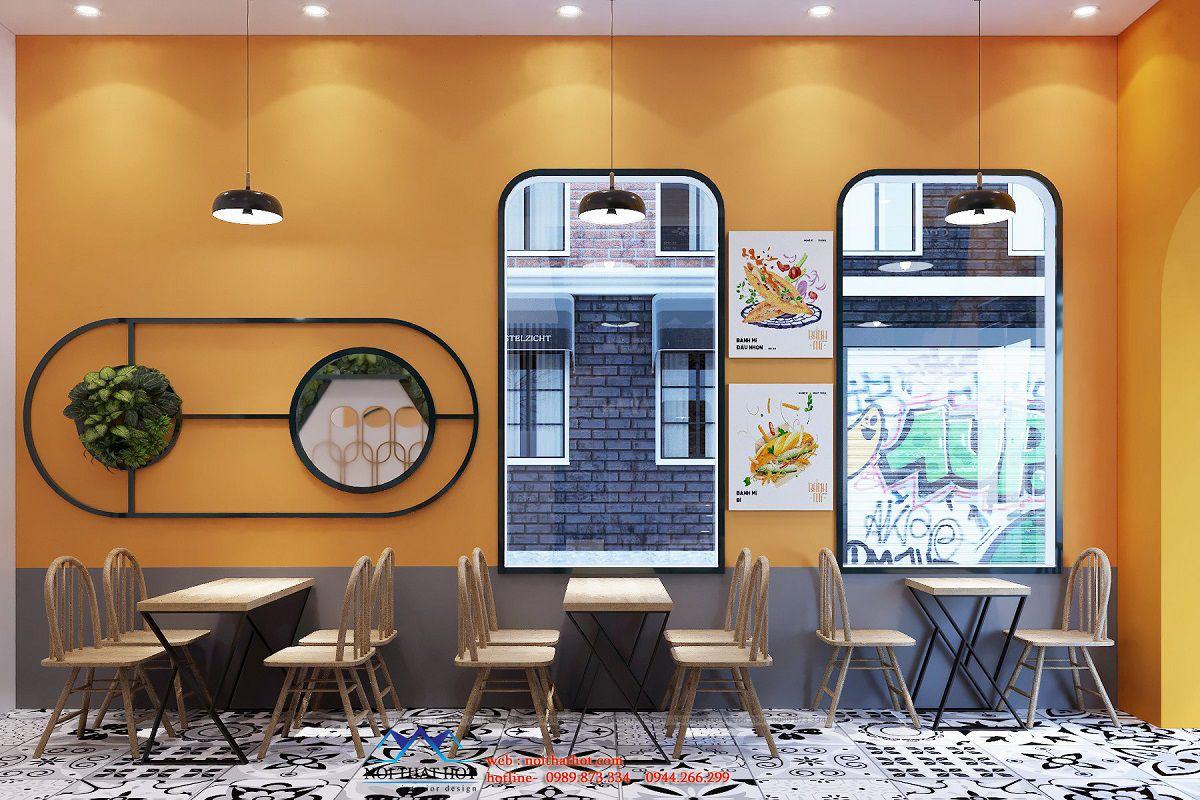 trang trí cửa hàng ăn uống