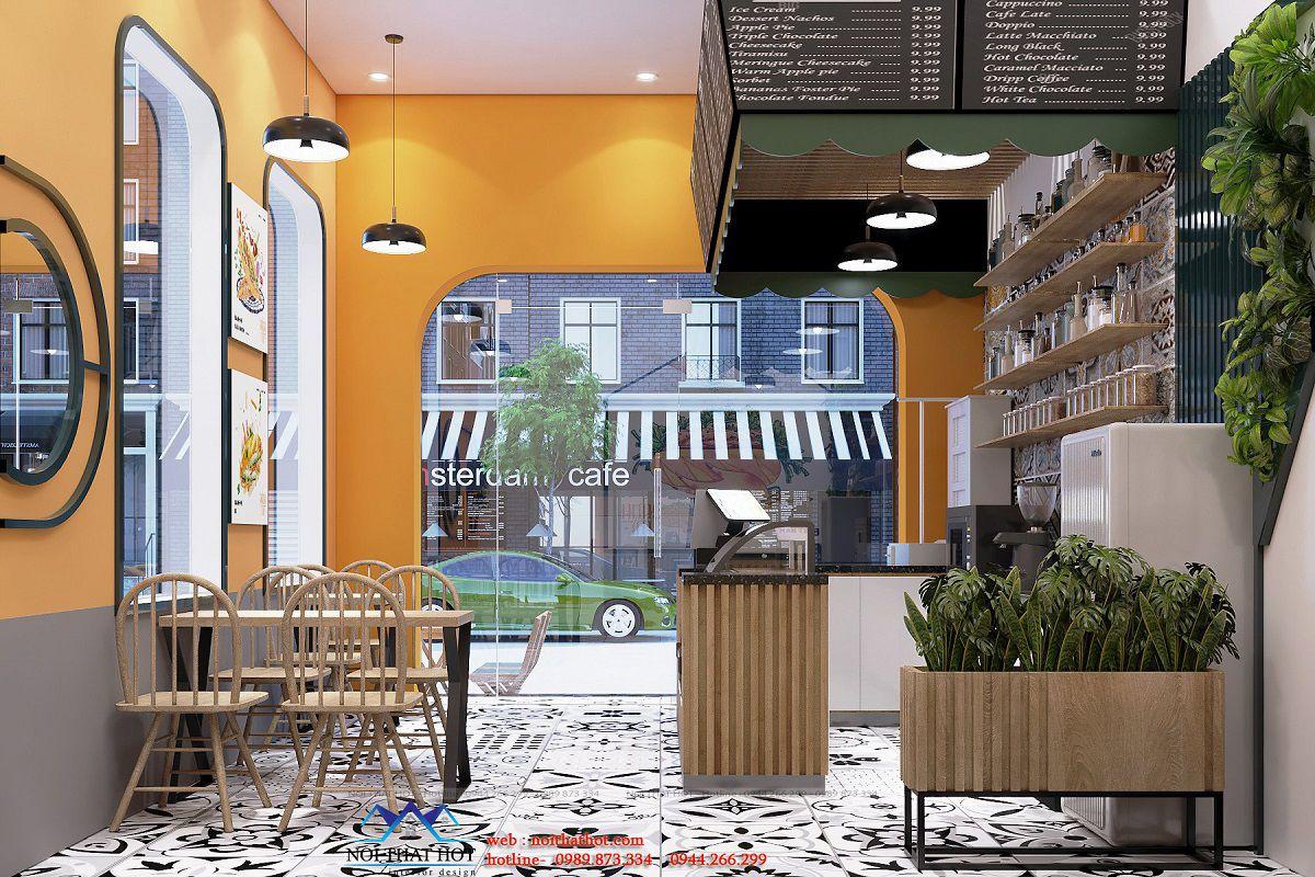 thiết kế cửa hàng ăn vặt
