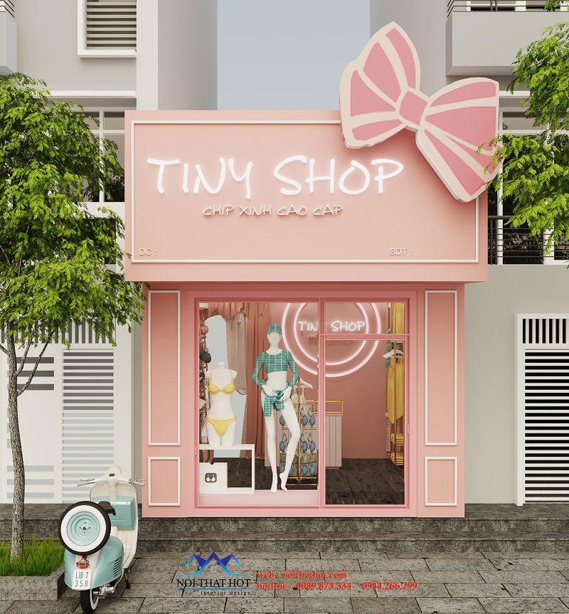 thiết kế cửa hàng đồ lót nhỏ