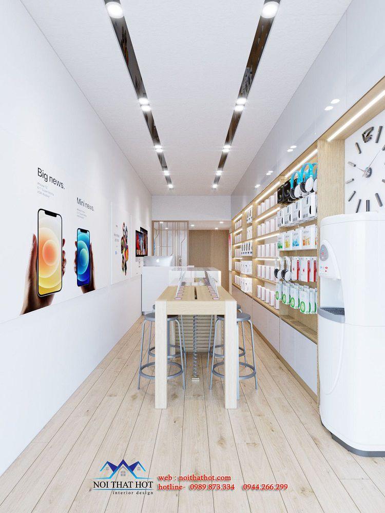 thiết kế cửa hàng điện thoại diện tích nhỏ