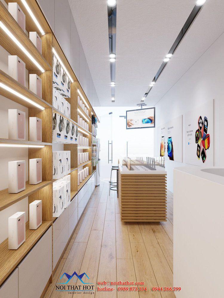 thiết kế nội thất shop điện thoại