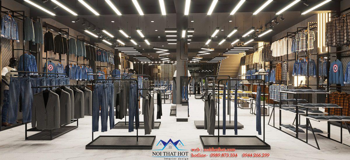 thiết kế hệ thống đèn điện cửa hàng