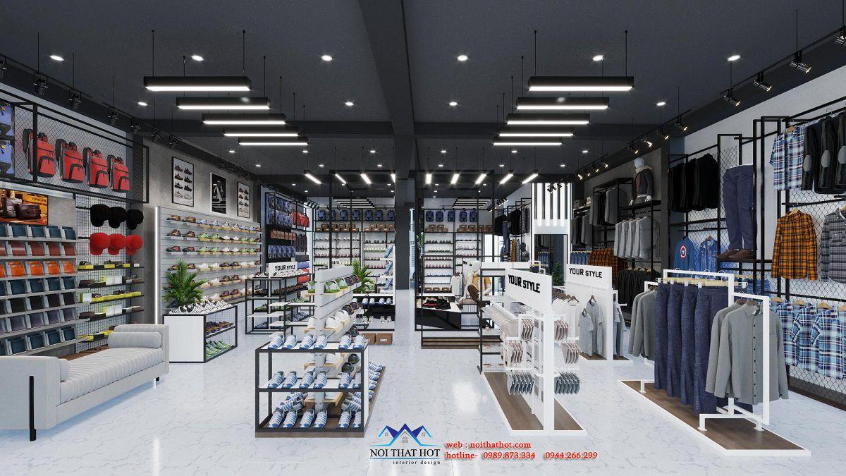 thiết kế shop thời trang nam 350m2
