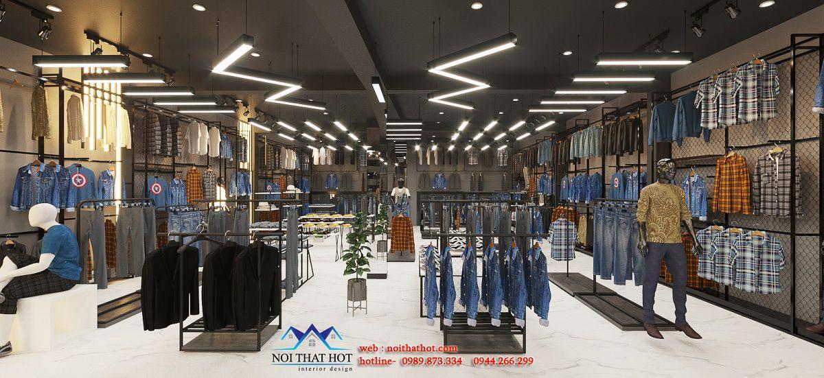 thiết kế shop quần áo trẻ trung