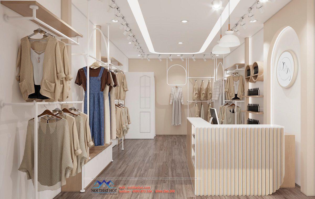 thiết kế shop thời trang nữ 25m2