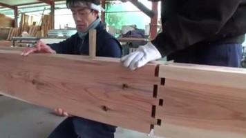 Thi công nối 2 thanh gỗ chính xác trong thiết kế nội thất