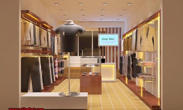 thiết kế shop thời trang nam hiện đại