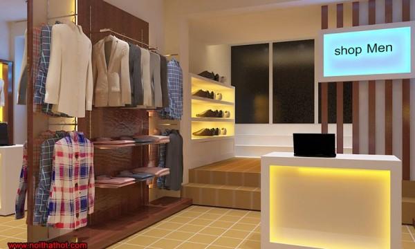 chúng tôi thiết kế cửa hàng thời trang nam khéo léo