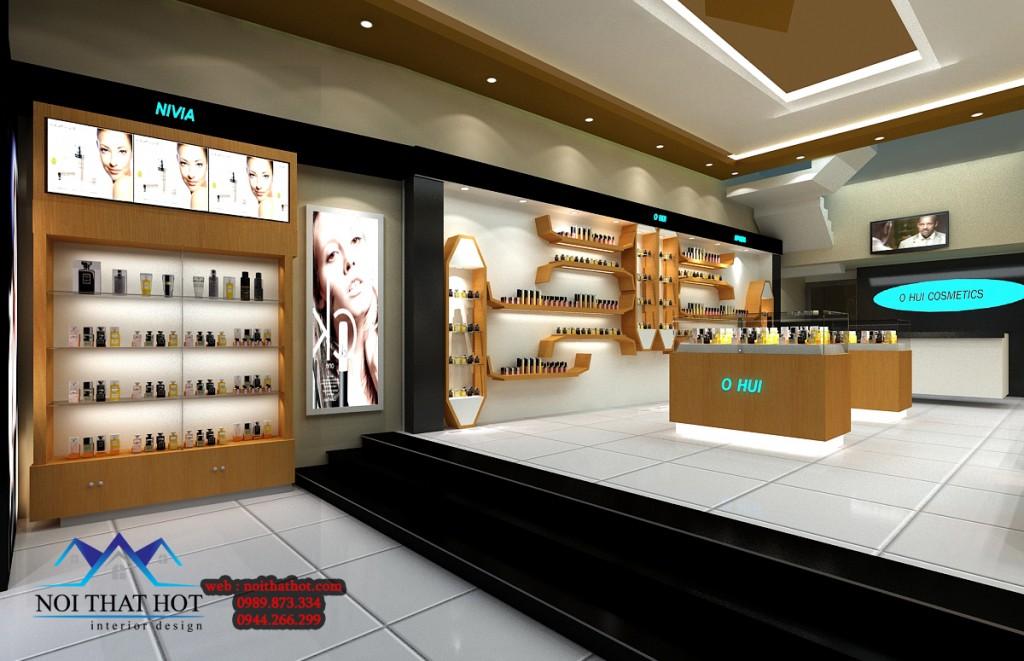 thiết kế nội thất cửa hàng mỹ phẩm đẳng cấp
