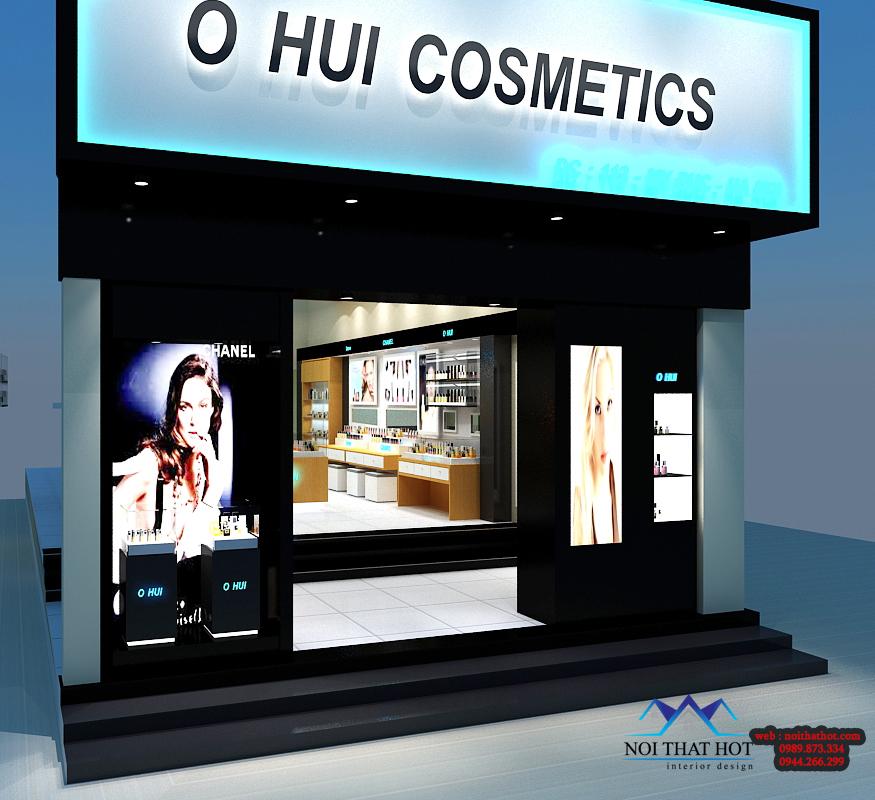 thiết kế shop mỹ phẩm thu hút khách hàng