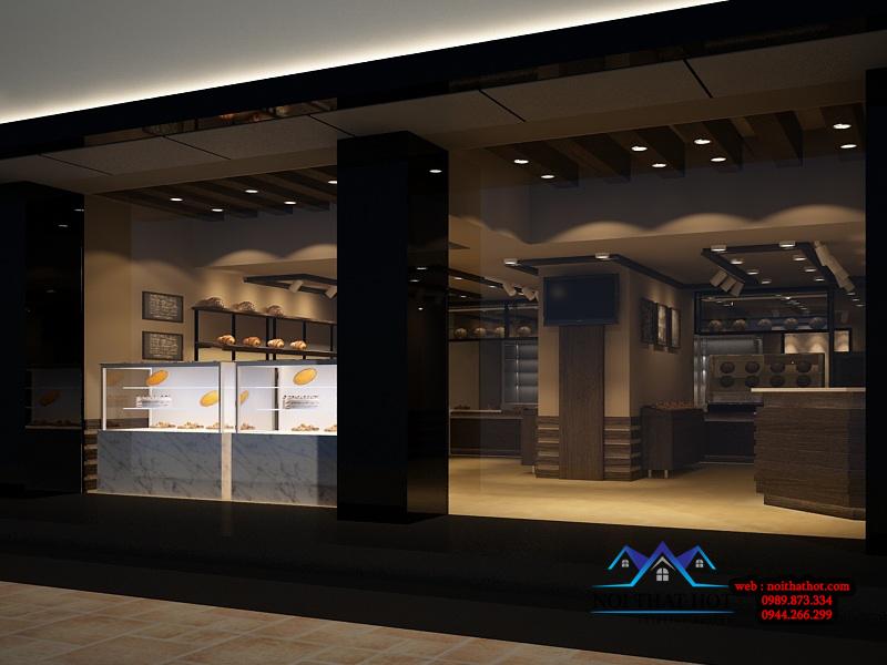 thiết kế cửa hàng hiện đại