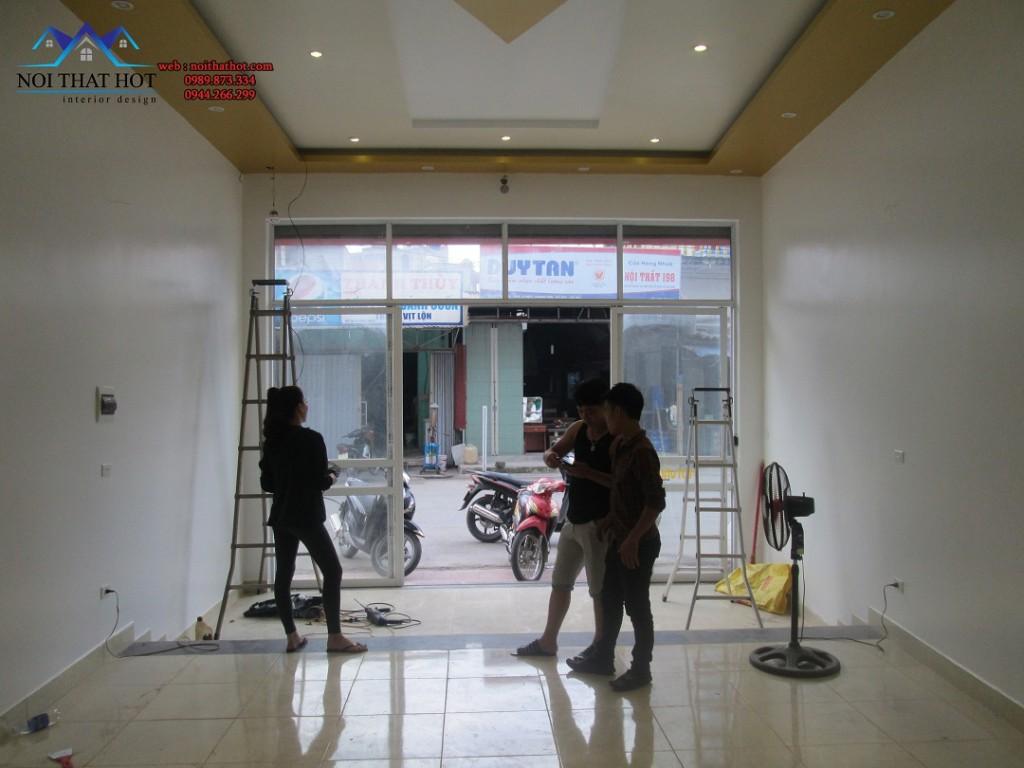 thiết kế cửa hàng mỹ phẩm thương hiệu Ohui