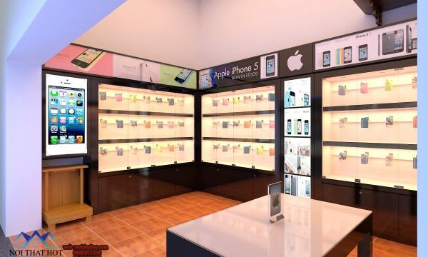 thiết kế cửa hàng điện thoại hiện đại