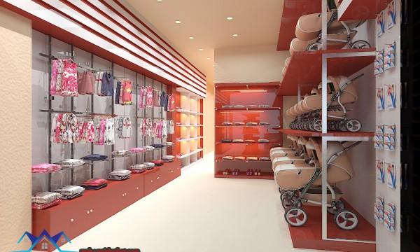 thiết kế nội thất shop mẹ và bé chất lượng