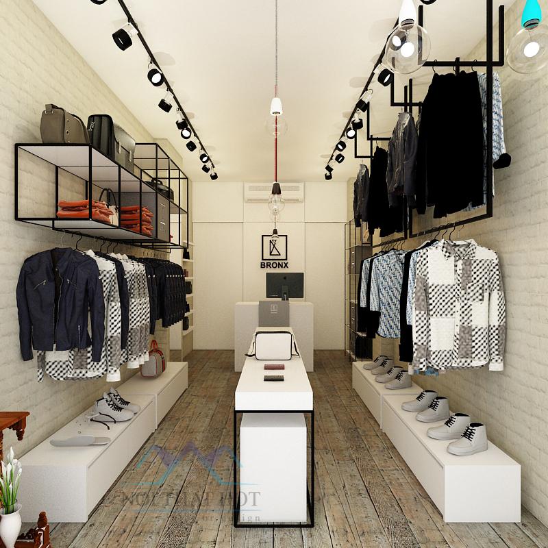 Mẫu thiết kế shop thời trang thi công nhanh - giá thành rẻ 0