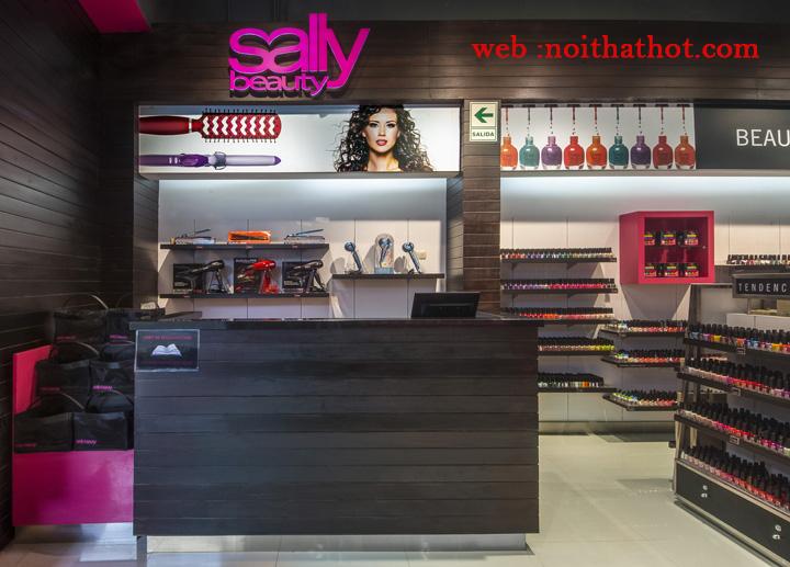 thiết kế cửa hàng mỹ phẩm Sally Beauty