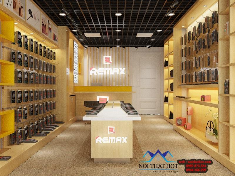thiết kế cửa hàng phụ kiện điện thoại đơn giản