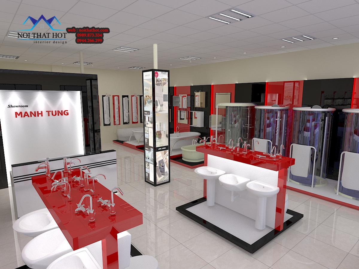 Thiết kế cửa hàng thiết bị nhà vệ sinh cao cấp