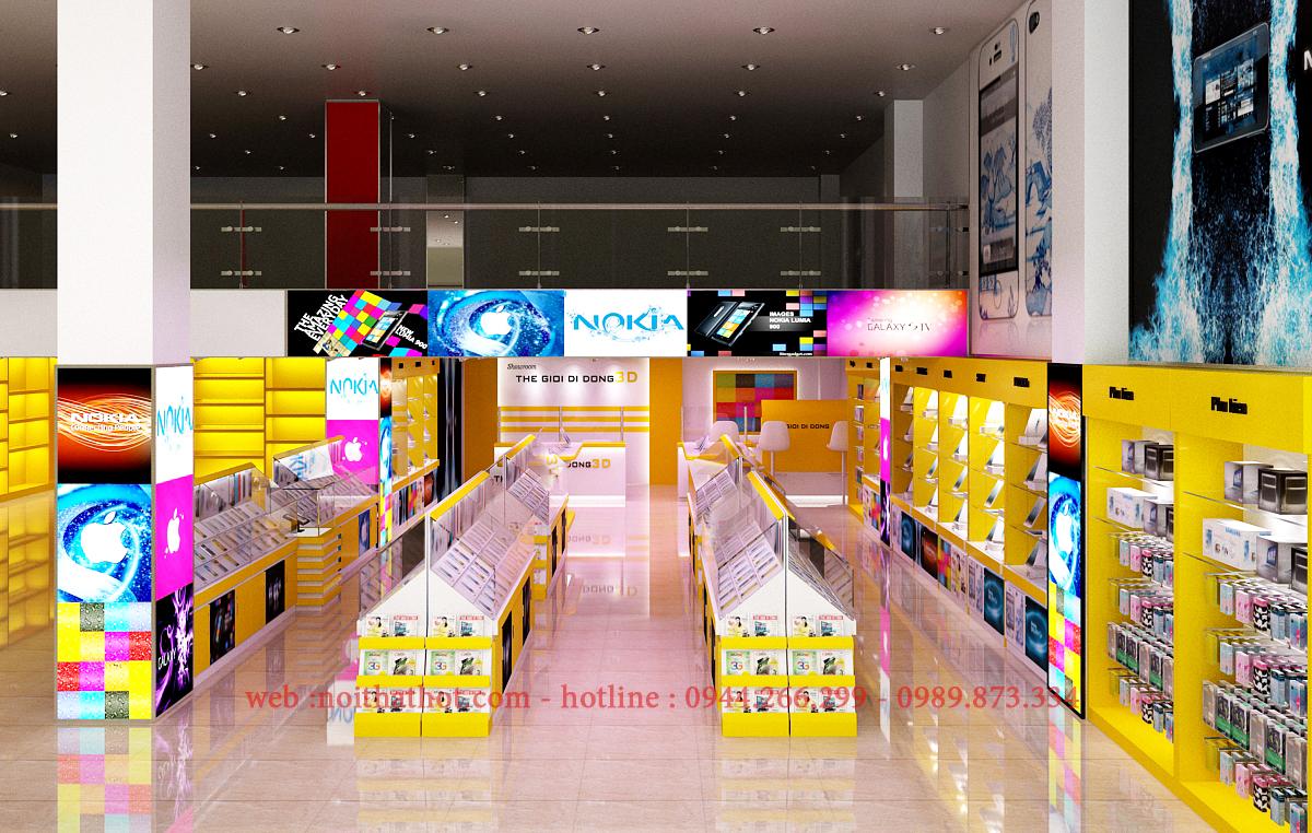 thiết kế cửa hàng thế giới di động