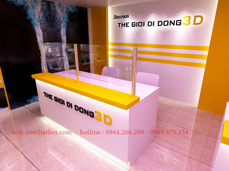 thiết kế showroom với quầy thu ngân đẳng cấp