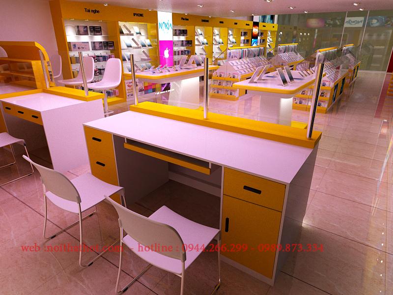 không gian cửa hàng thoáng và rộng