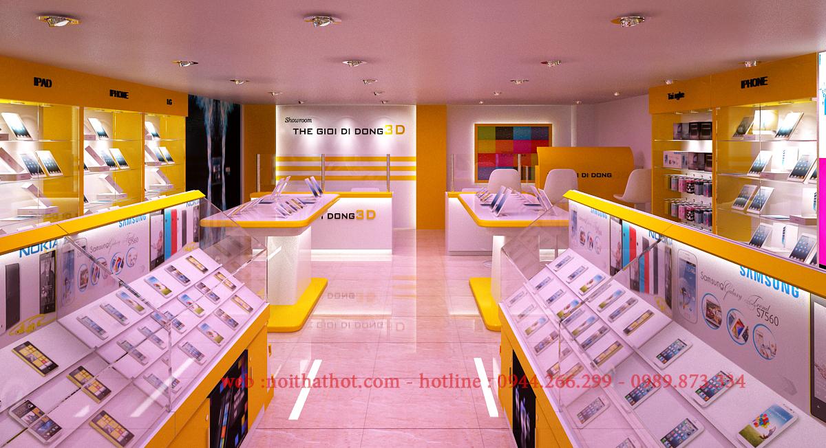 thiết kế cửa hàng điện thoại thiết kế showroom