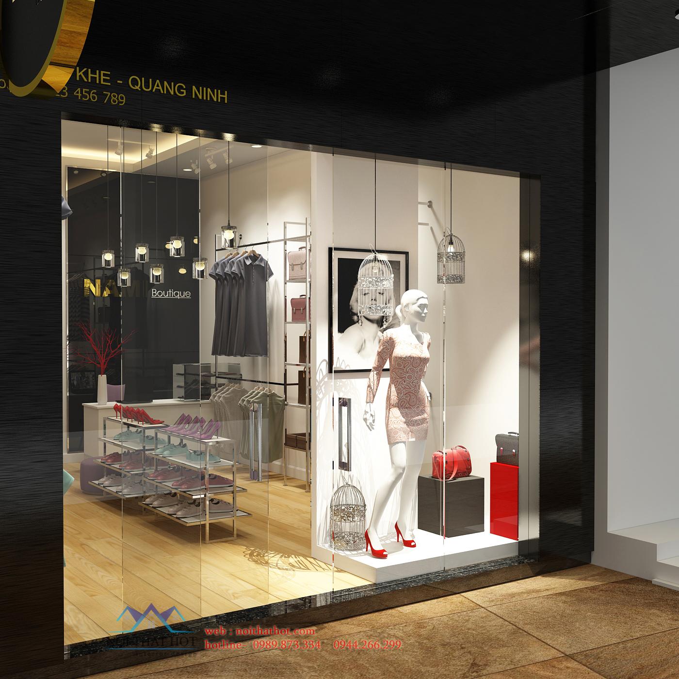 thiết kế cửa hàng quần áo thời trang nữ uy tín