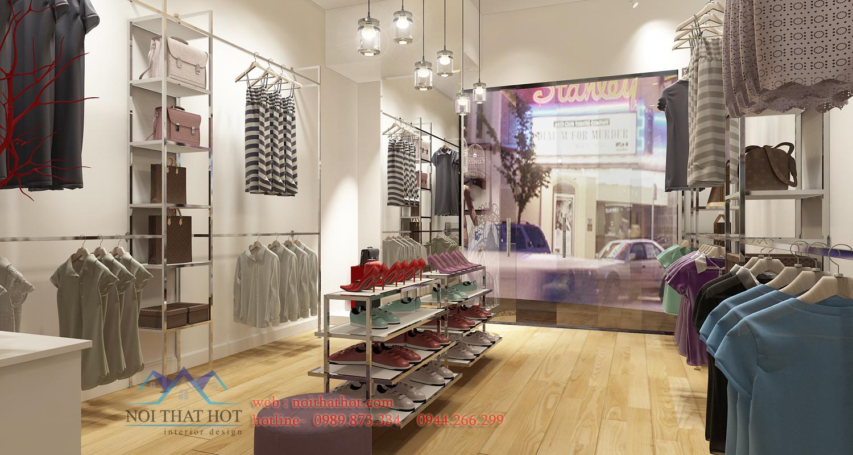 thiết kế cửa hàng thời trang nữ đpẹ