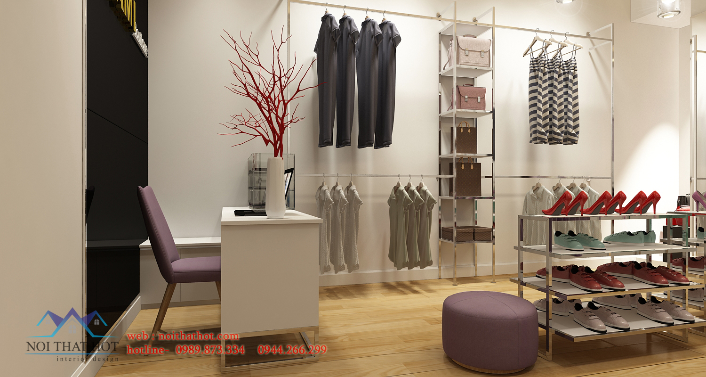 thiết kế cửa hàng thời trang nữ đẹp nhất mạo khê
