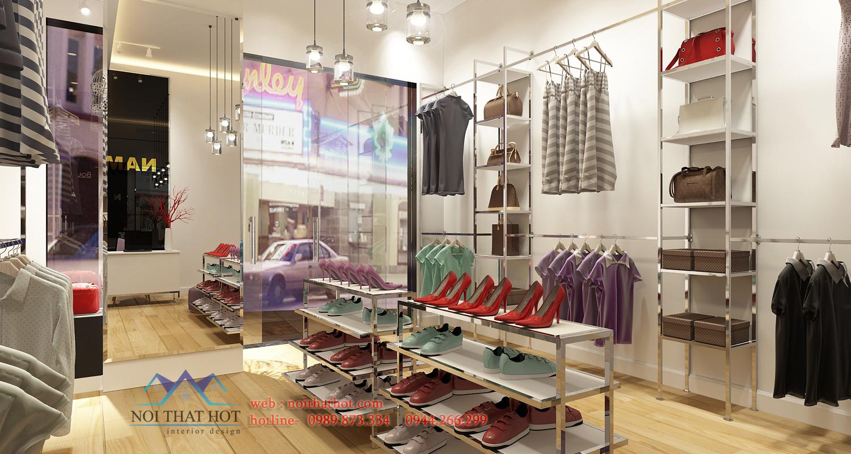 thiết kế cửa hàng thời trang nami chất lượng cao