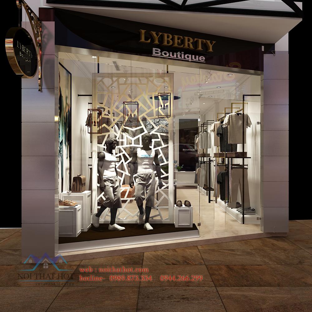 thiết kế shop thời trang nam trẻ trung