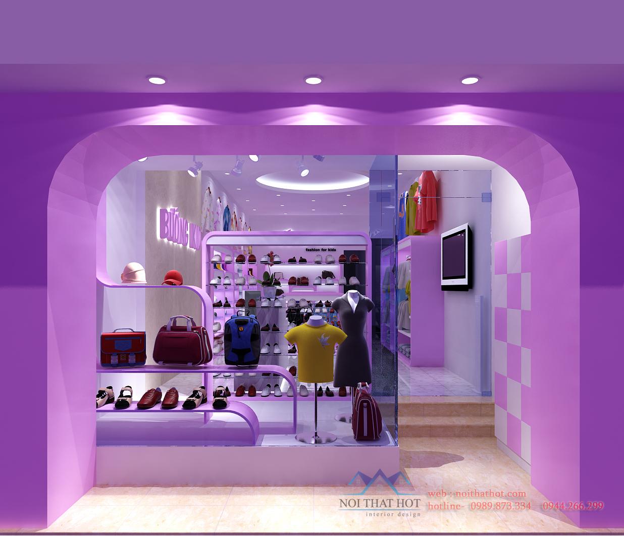 Thiết kế cửa hàng thời trang nữ đẳng cấp