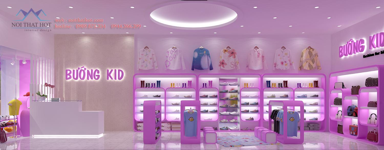 Thiết kế cửa hàng thời trang nữ tại cầu giấy hà nội