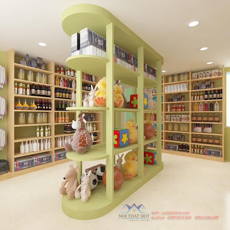 thiết kế cửa hàng mỹ phẩm kì diệu