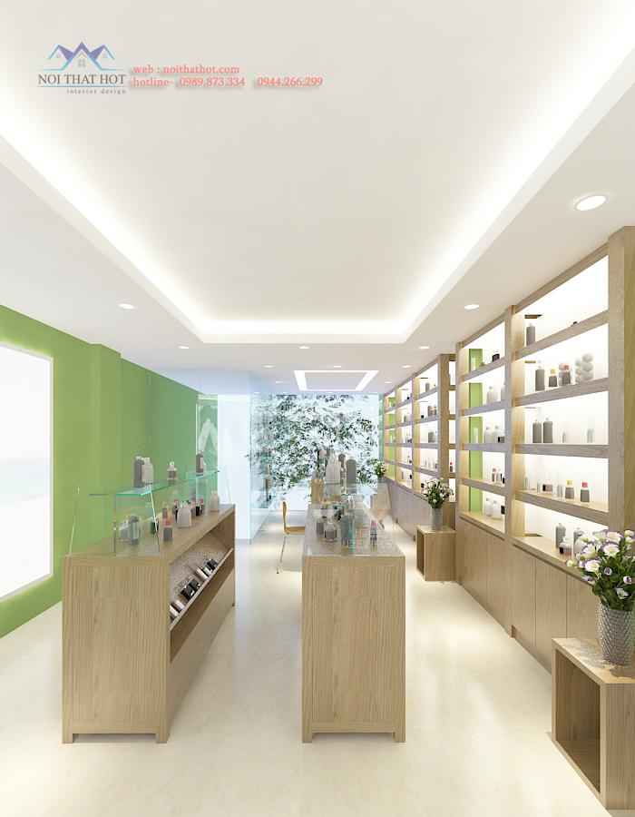 thiết kế cửa hàng mỹ phẩm sáng tạo