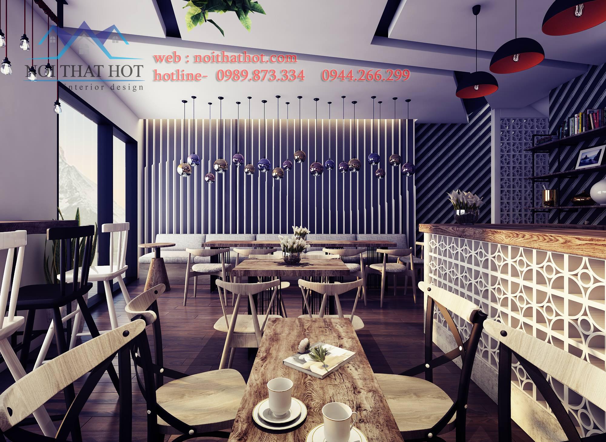 Thiết kế quán cafe mộc với ý tưởng trẻ trung, phá cách