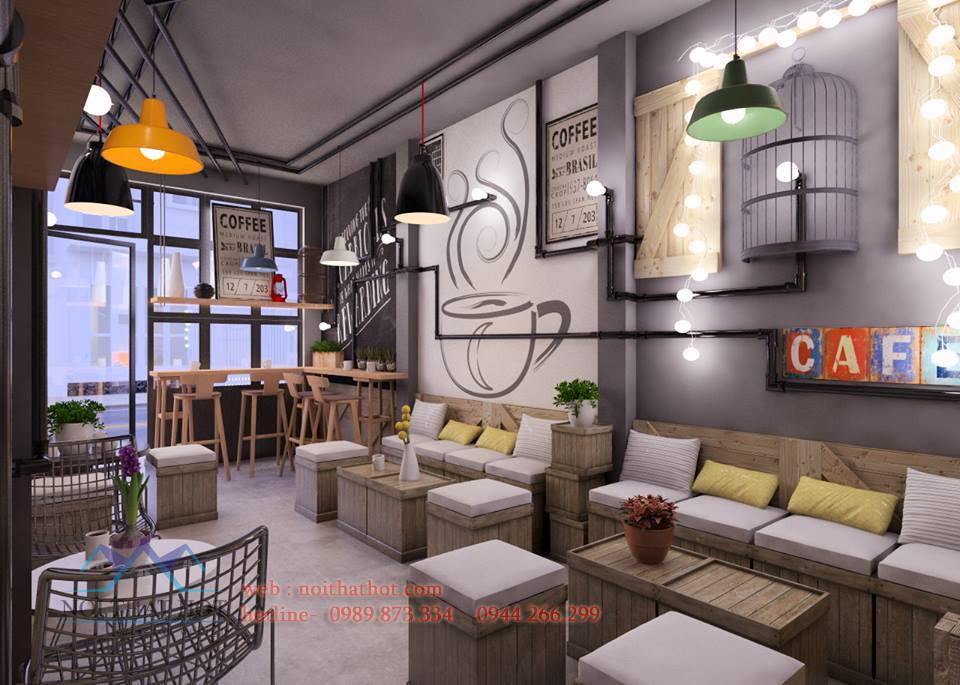 Thiết kế quán cafe sinh viên sáng tạo độc đáo